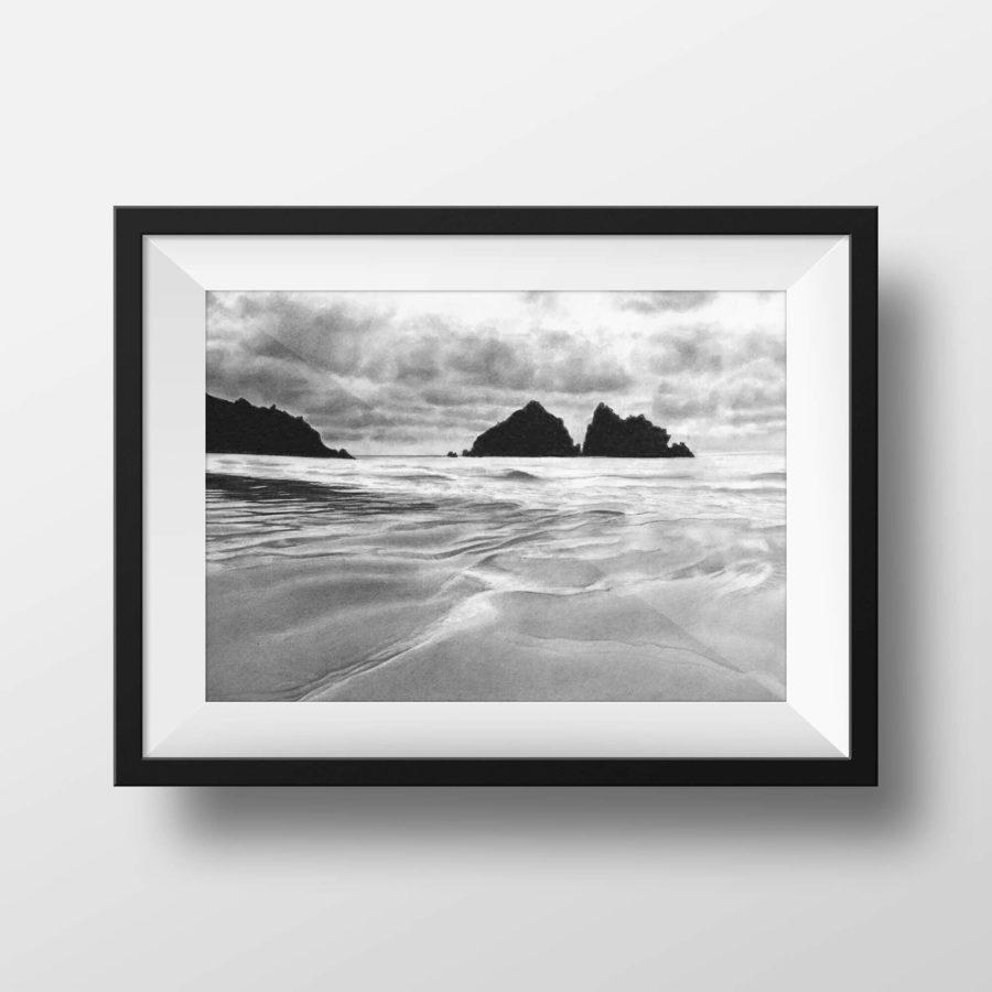 Holywell Bay, Cornwall - framed