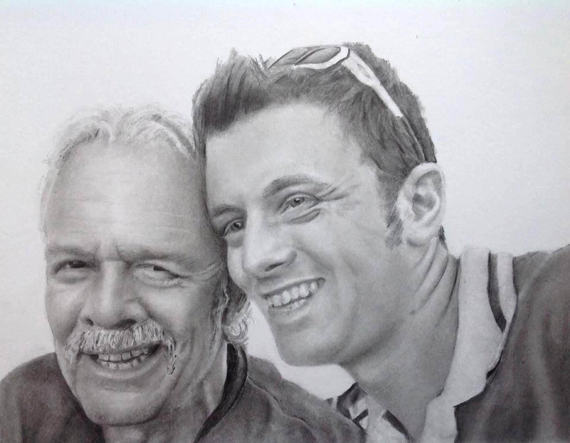 Ryan and Kev drawing